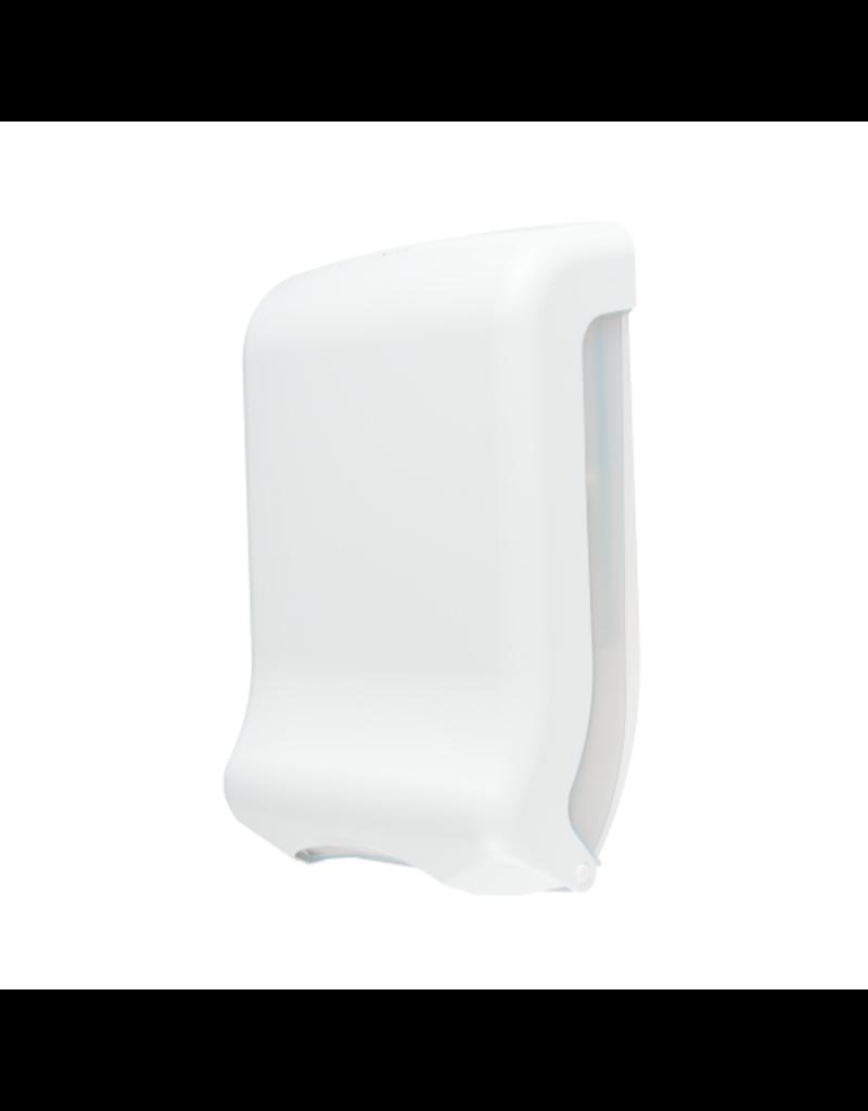 Papieren handdoekjes dispenser wit