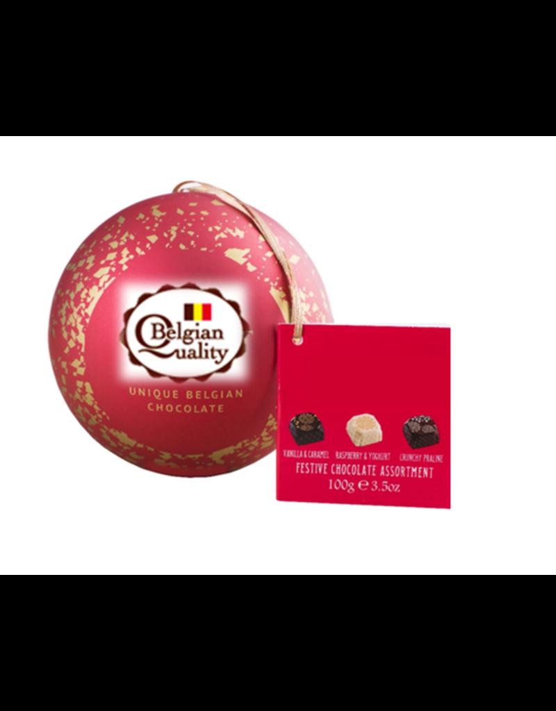 Kerstbal gevuld met Belgische Pralines