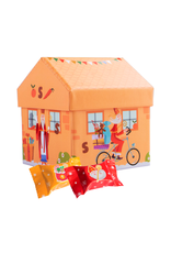 Sinterklaas huisje gevuld met pralines