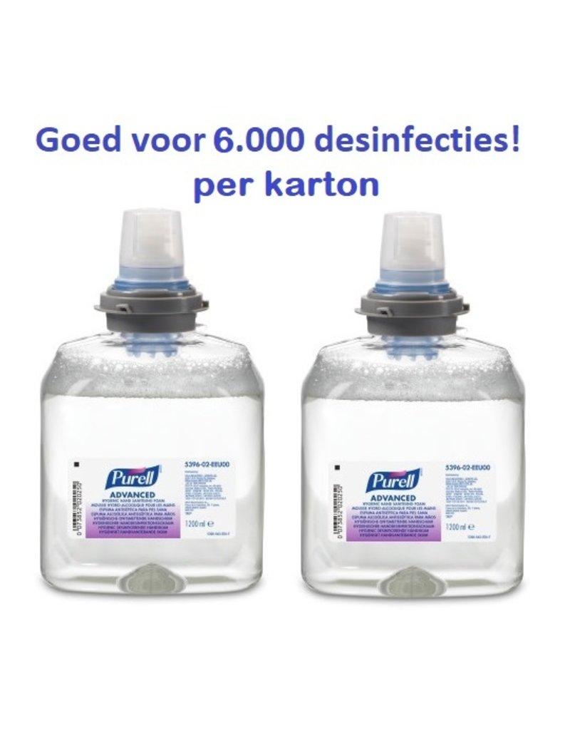 Purell advanced TFX hand sanitising Foam 2x1200ml