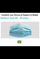 Mondmasker 3lgs 50st TYPE IIR Medisch