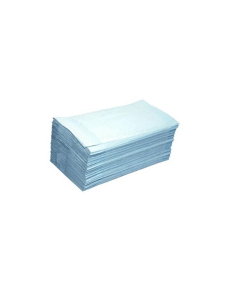 Papieren handdoeken handdoekjes 1 laags BLAUW