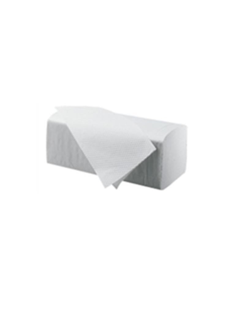 Papieren handdoeken handdoekjes 1 laags WIT