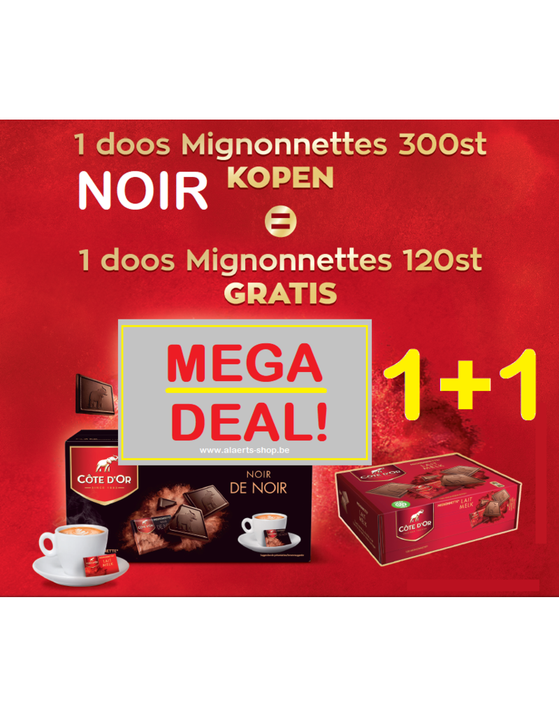 Côte d'Or Mignonnette Noir 1+1 ACTIE