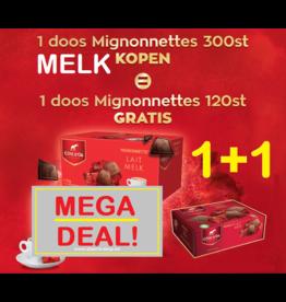 Côte d'Or Mignonnette Melk 1+1 ACTIE