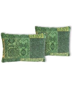 Patchwork Cushion Spring Green