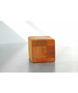 Patchwork Pouf Tangerine