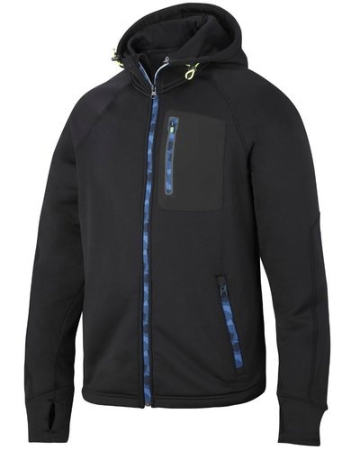Snickers Workwear 8000 FlexiWork, Stretch Fleece Hoodie