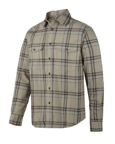 Snickers Workwear 8502 RuffWork, Geruit Flanellen Shirt