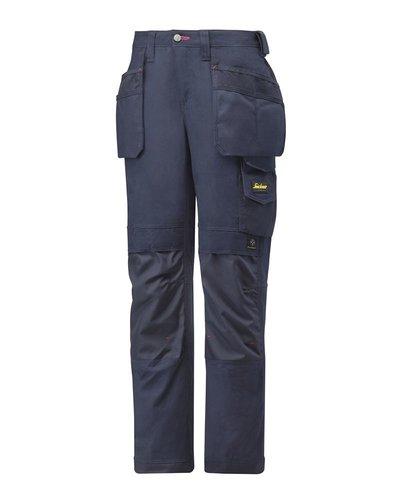 Snickers Workwear Canvas+ broek voor dames 3714 met holsterzakken