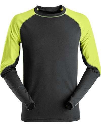 Snickers Workwear 2405 Neon T-Shirt met Lange Mouwen
