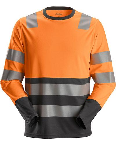 Snickers Workwear 2433 AllroundWork Hi-Vis T-Shirt met Lange Mouwen, Klasse 2