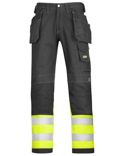 Snickers Workwear Katoenen Broek High Visibility Klasse 1 model 3235