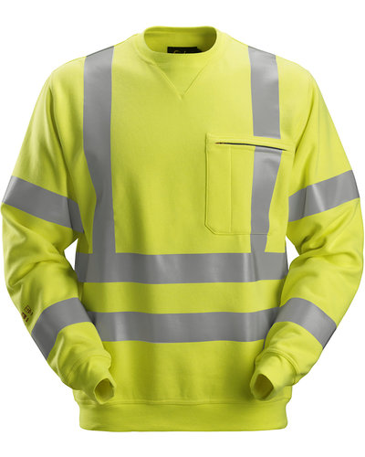 Snickers Workwear 2863 Multinorm Sweatshirt, Hi-Vis 3