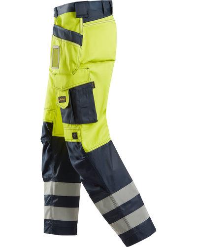 Snickers Workwear  3233 High-Vis Broek met Holsterzakken, Klasse 2