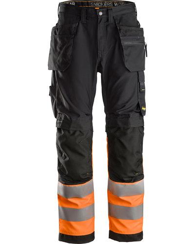 Snickers Workwear 6233 High-Vis Werkbroek+ met Holsterzakken, Klasse 1