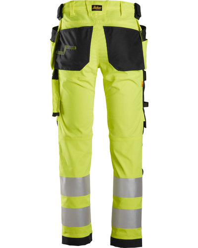 Snickers Workwear AllroundWork High-Vis Stretch Werkbroek met Holsterzakken