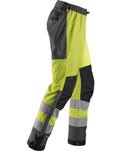 Snickers Workwear AllroundWork Hi-Vis Waterproof Shell Broek Klasse 2
