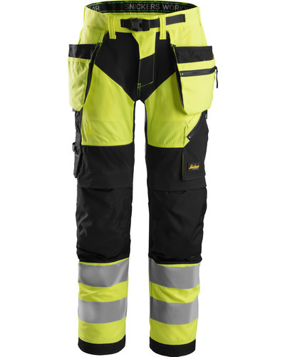 Snickers Workwear 6932 High-Vis Werkbroek+ met holsterzakken Klasse 2
