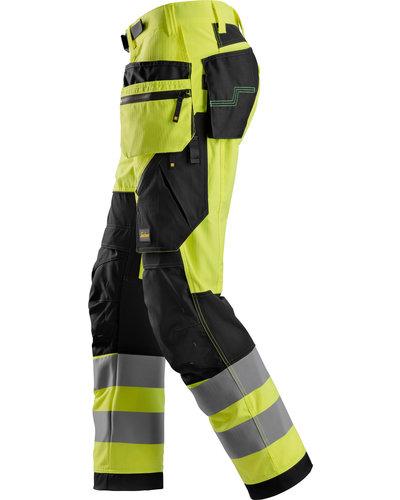 Snickers Workwear FlexiWork High-Vis Werkbroek+ met holsterzakken Klasse 2