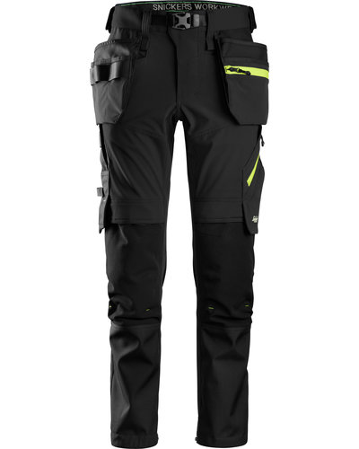 Snickers Workwear 6940 Softshell stretch Werkbroek+ met Holsterzakken