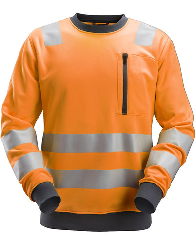Snickers Workwear AllroundWork High-Vis Sweatshirt, Klasse 2 + 3