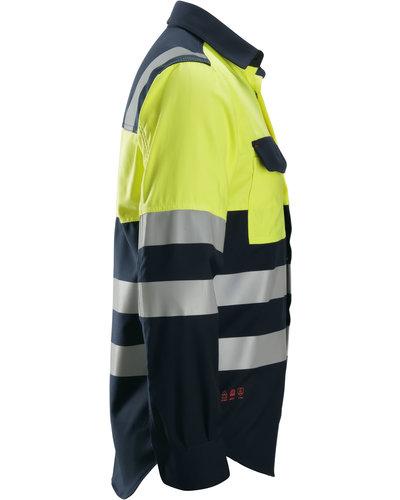 Snickers Workwear ProtecWork Multinorm Overhemd, Klasse 1 Hi-Vis