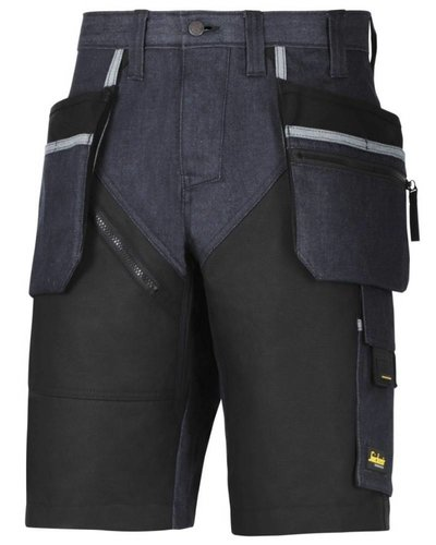 Snickers Workwear 6104 Korte Broek RuffWork+ Denim met holsterzakken