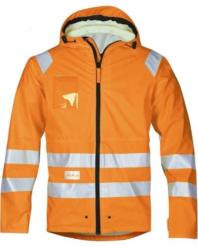 Snickers Workwear 8233 Regenjas PU Hi Vis Klasse 3