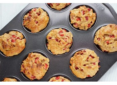 Curvacious.nl: Aardbei-Banaan muffins