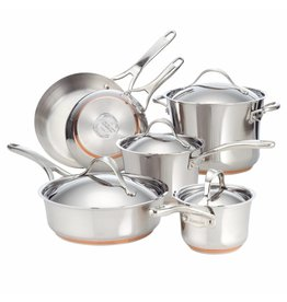 Anolon  Nouvelle Copper Stainless Steel pannenset