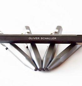 Kugelschreiber oder Minenbleistift schwarz mit Gravur
