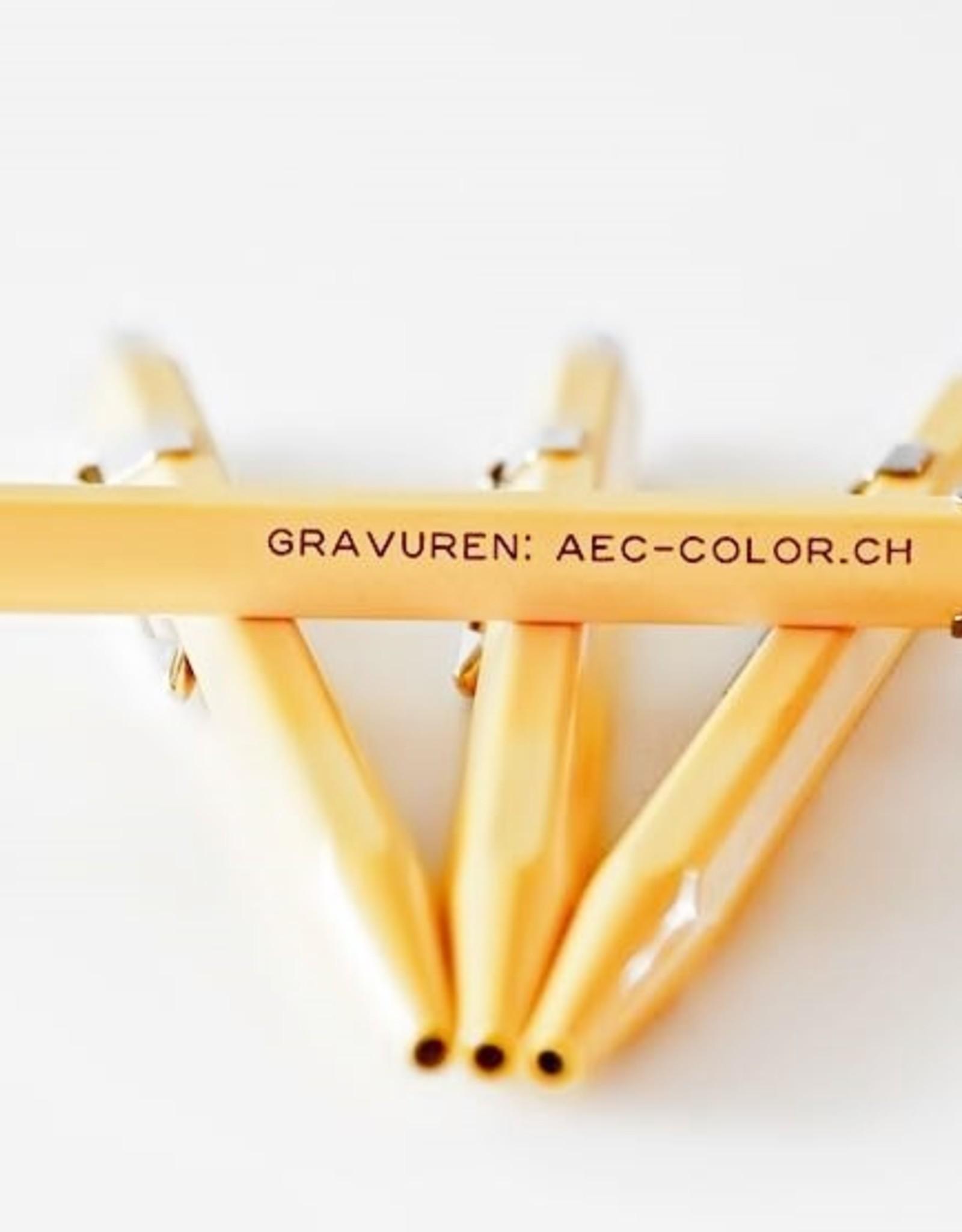 Caran d'Ache Kugelschreiber mit Gravur 849  Classic Line gelb