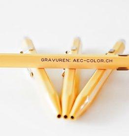 Kugelschreiber gelb  mit Gravur