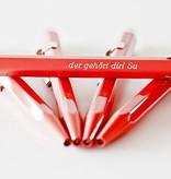 Classic-Line Kugelschreiber oder Druckbleistift 849 rot mit Gravur