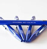Classic-Line Kugelschreiber saphirblau oder Druckbleistift 849 mit Gravur