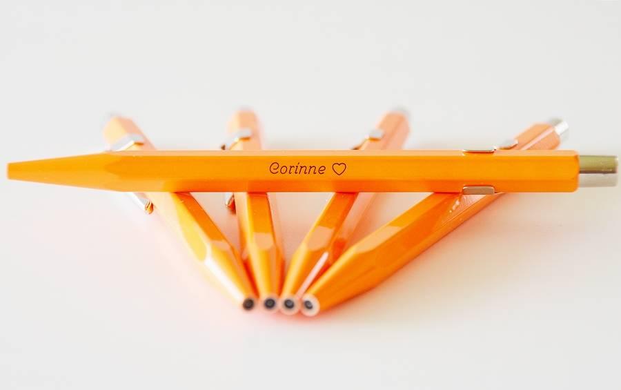 Fluo-Line 849 orange mit Gravur
