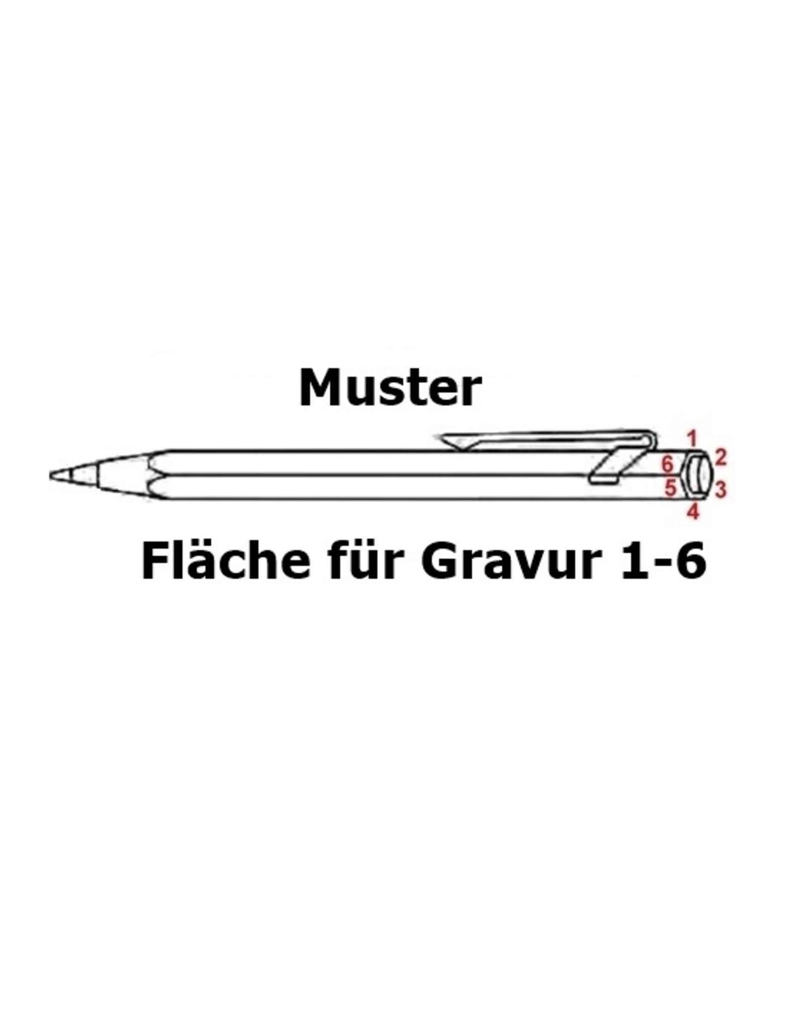 Kollektion 849 Kugelschreiber in silber inkl. Gravur und Geschenkverpackung