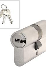 S2skg**F6 3 gelijksluitende cilinders skg**f6 60 mm 30/30 hs met 6 veilige putsleutels