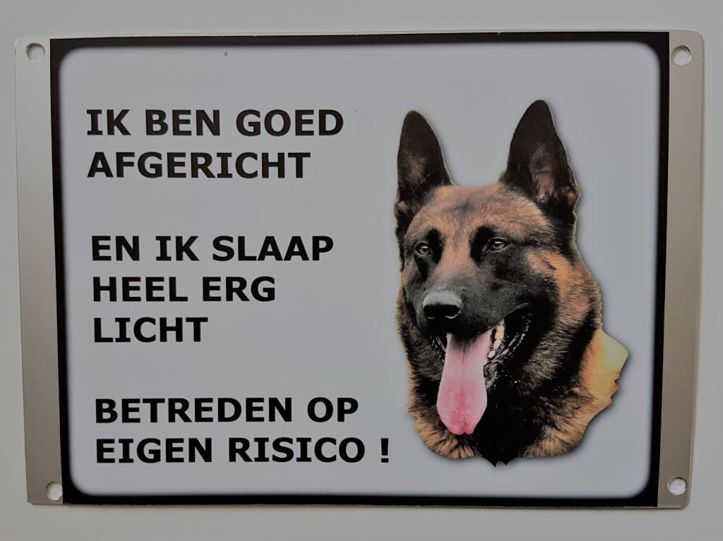 Homesecuur  Waakbord Hollandse herder