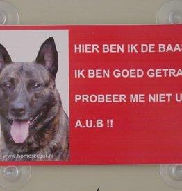 Homesecuur Waakbord Hollandse Herder Herder