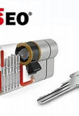 ISEO F6 Extra S SKG*** Cinder 80 mm 40/40 wil u de cilinder gelijk sluitend hebben op met draaiknop ?
