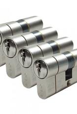 ISEO F6 Extra S SKG*** 4 gelijksluitende ISEO F6 Cilinder Extra S SKG*** met 6 genummerde sleutels