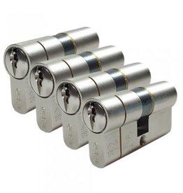 ISEO F6 Extra S SKG*** 4 gelijksluitende Cilinders 60 mm 30/30 12 sleutels