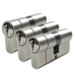ISEO F6 Extra S SKG*** 3 gelijksluitende antikerntrek Cilinders 60 mm 30/30 9 sleutels