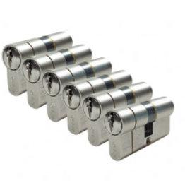 ISEO F6 Extra S SKG*** 6 gelijk sluitende Cilinders 60 mm 30/30