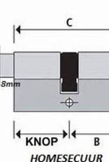 S2skg**F6 4 gelijk sluitende cilinder 3 met knop 1 gewone cilinder