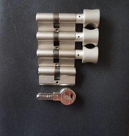 S2skg**F6 3 knopcilinder plus 1 gewone cilinder 8 keersleutels