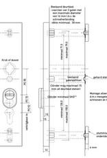 safe & secure skg*** Antiekerntrek Renovatie buitenschild verstebare schroefgaten