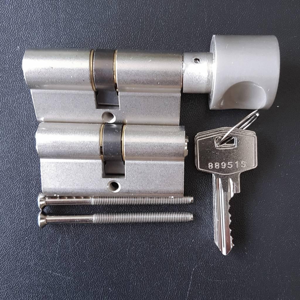 S2skg**s6 Knopcilinder + 1 gewone cilinder 6 genummerde sleutels